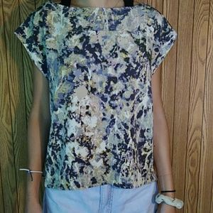 French Connection Abstract Print Blouse M